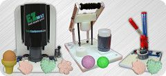 Bath Bomb Presses - Tired of making a few dozen bath bombs by hand?  Try making a couple hundred with a bath bomb press instead!