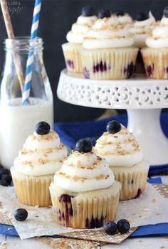CUPCAKES - Blueberry Coconut cupcakes