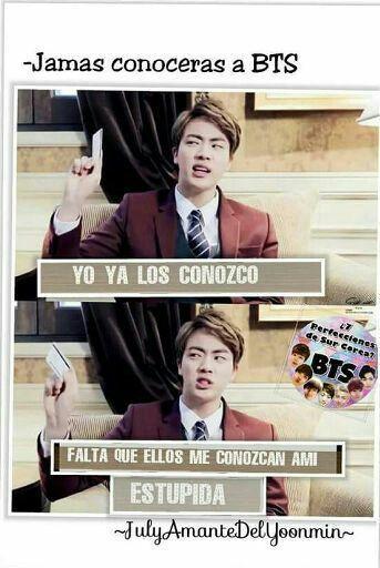 Meme bts en español
