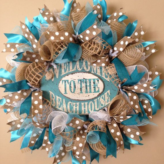 Hey, I found this really awesome Etsy listing at https://www.etsy.com/listing/226711983/summer-deco-mesh-wreath-beach-wreath