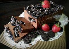 Puding Brownies Oreo lembut seperti es krim