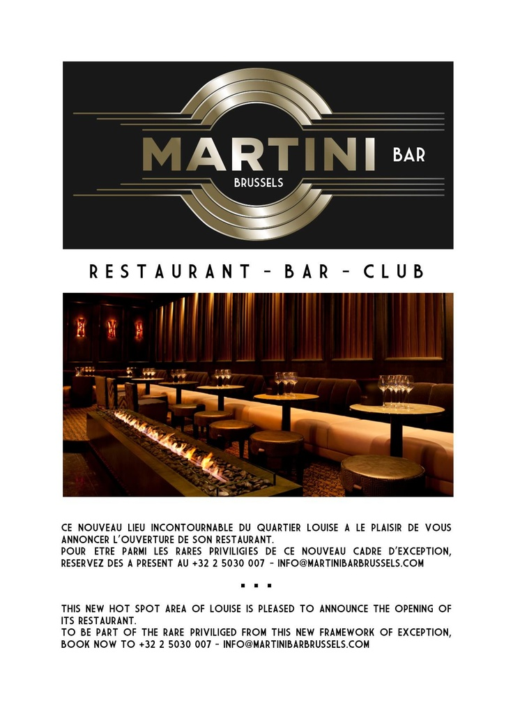 Martini Bar Brussels