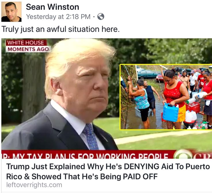 Truth is, Trump and his Racist Supporters don't give a Damn about these people. Most of his Jack Ass Supporters don't consider Puerto Rico a part of the US, they think of these poor souls just as they do Mexicans. Trumps response is as Shameful as George Bush's response to Katrina.