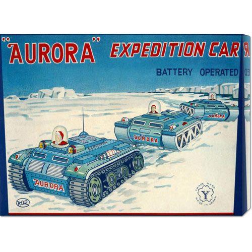 Aurora Expedition Car: 16.5 x 22 Canvas Giclees, Wall Art