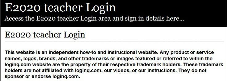 Secure Login | Access the E2020 teacher login here. Secure user ...