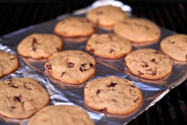Grilled Chocolate Chip Cookies   17 Desserts You Can Make On The Grill
