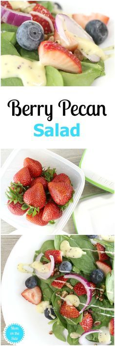 Enjoy Berry Pecan Salad Recipe all week long when you store produce in Rubbermaid FreshWorks Produce Saver! Get the recipe and check out the containers! via @momontheside #FreshWorksFreshness  #ad