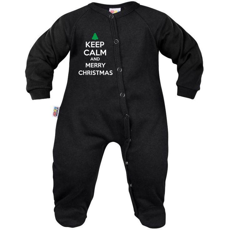 Pyjama bébé Noël : Keep Calm and MERRY CHRISTMAS