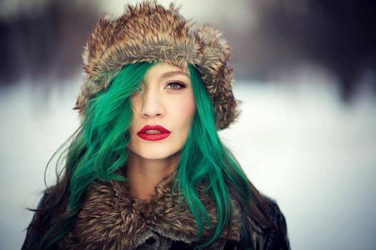 by Andrei Ivan #andreeaverde #andreiivan #winterghost #greenhair