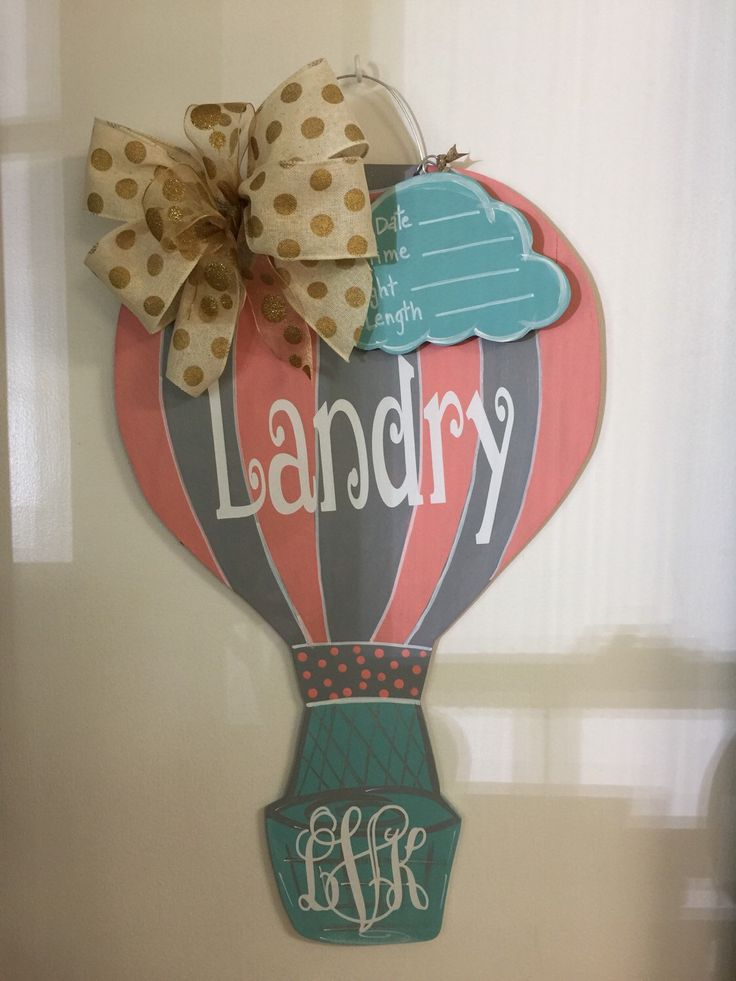 Hot Air Balloon Door Hanger by craftigirlcreations on Etsy https://www.etsy.com/listing/237036704/hot-air-balloon-door-hanger