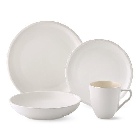 Le Creuset Matte Coupe 16 Piece Set With Pasta Bowl Matte Dinnerware Dinnerware Classic Dinnerware