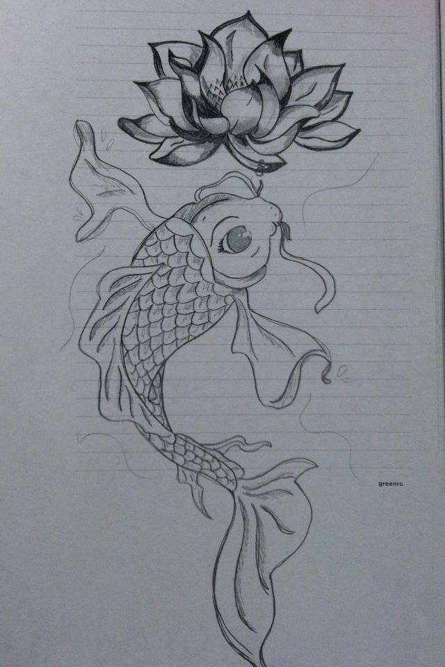 Pin by jacky nestor on the magic of art pinterest for Coy fish drawing