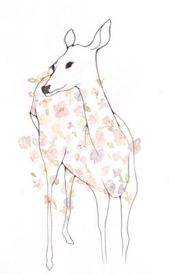 Deer illustration by Ana Laura Perez I love this as a tattoo