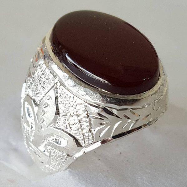 Muslim aqeeq ring for men shia aqeeq sterling silver ring ...