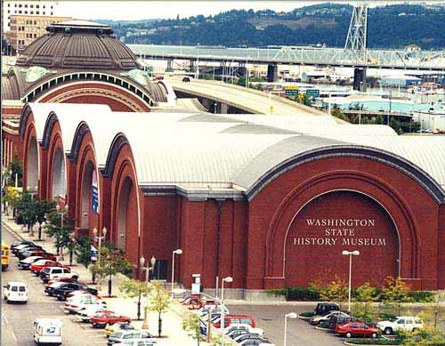 Washington State History Museum ~ (Tacoma) The tall round building use to be the Northern Pacific Railroads train station.