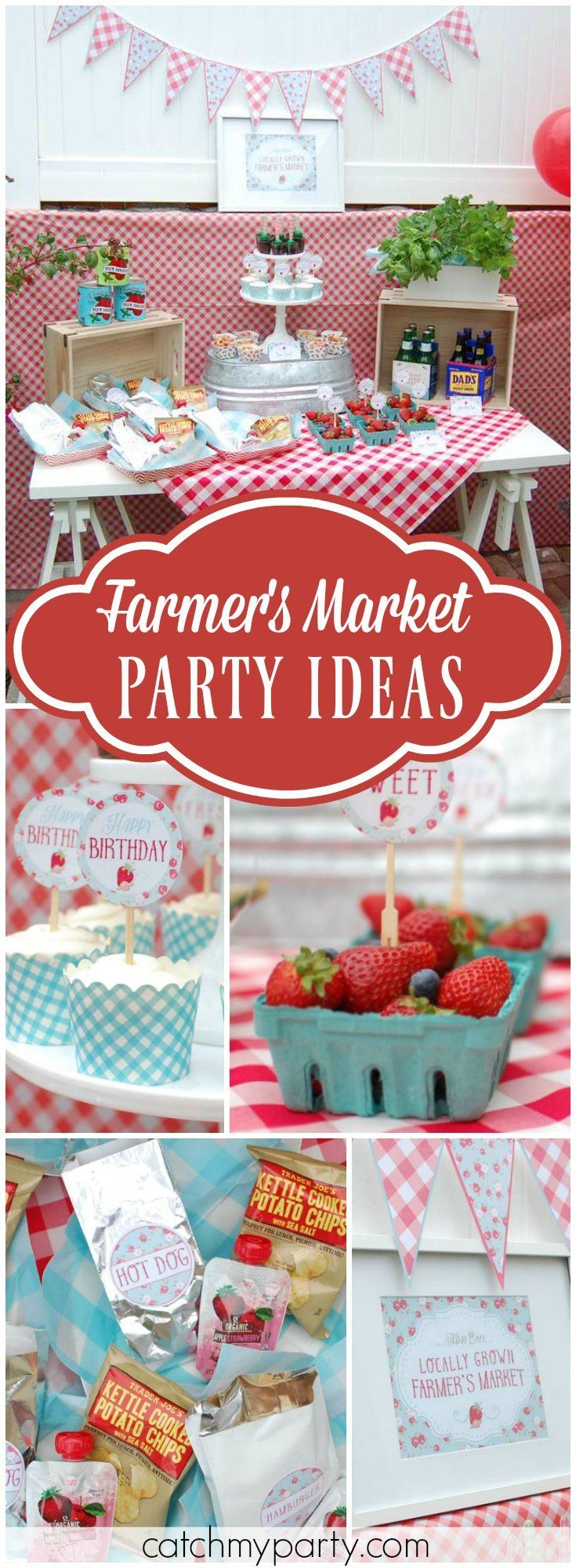 Here's an amazing farmer's market birthday party! See more party ideas at Catchmyparty.com!