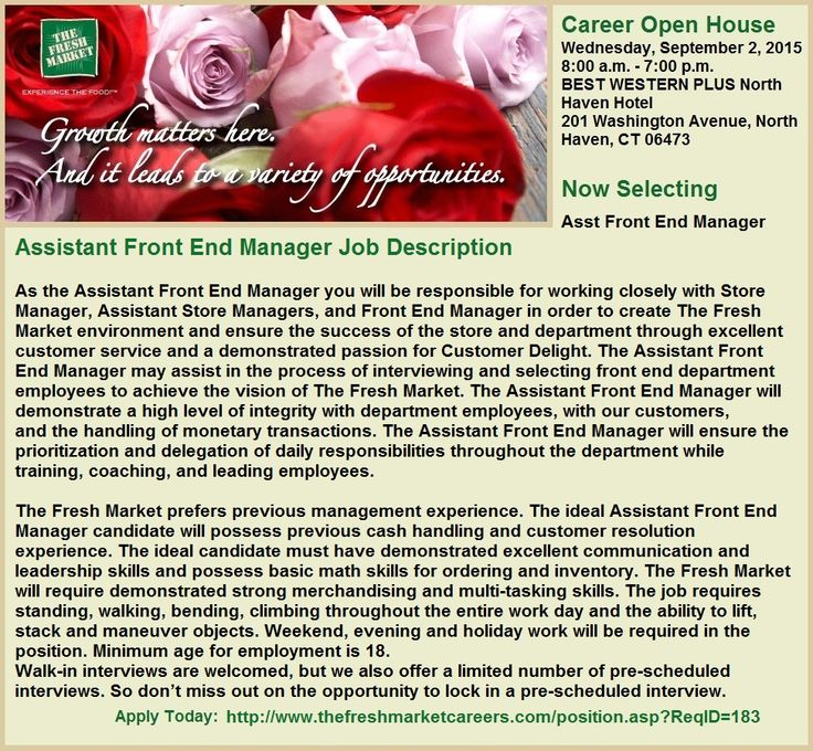 Assistant front end manager jobs in guilford ct job