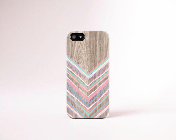 PASTEL CHEVRON iPhone Case Pink chevron iPhone 4 Case Mint chevron iphone 5 Case Orange chevron Wood Print Chevron Samsung Galaxy S5 Case