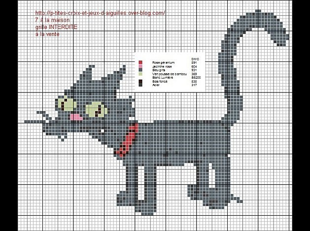 Cross-stitch Simpson's cat