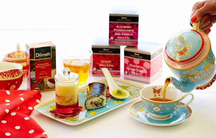 Dilmah Tea chicken sushi recipe: http://forkandkniv.com/dilmah-tea-infused-chicken-sushi/