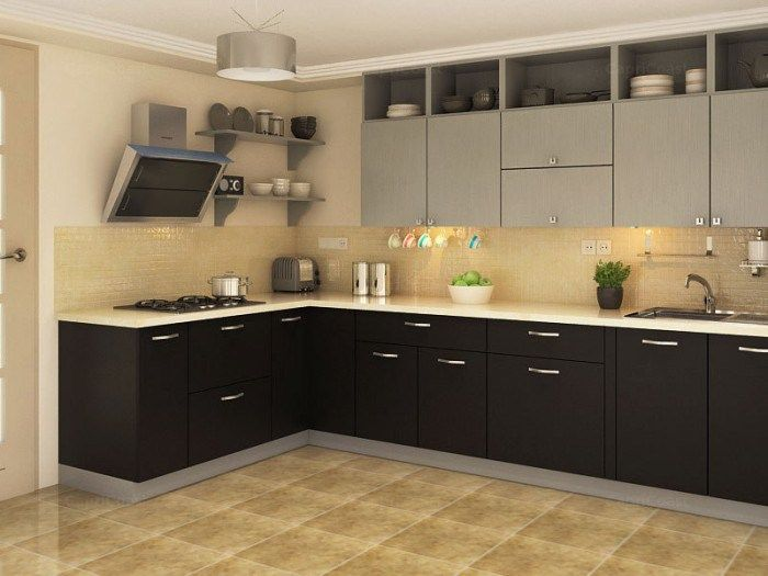 Indian style modular kitchen design apartment modular for Small indian kitchen design