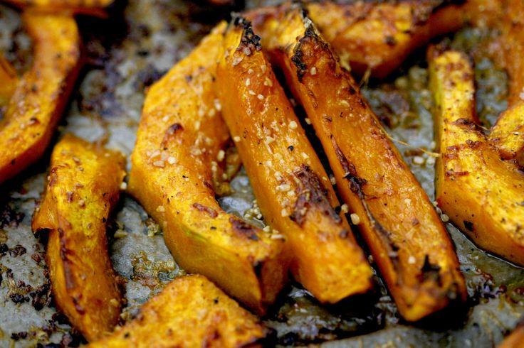 Geroosterde pompoen met parmezaanse kaas - bekijk dit recept op keukenrevolutie.be