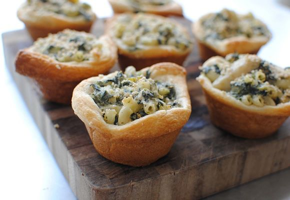Spinach and Artichoke Mac 'n Cheese Cups | Recipe | Artichokes, Mac ...