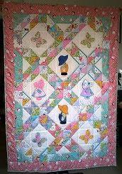 hobby e passioni racchiusi nel mio cassetto: Copertina patchwork per culla con bamboline - Sunb...