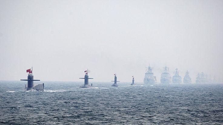 Submarinos y buques de guerra de la Armada china