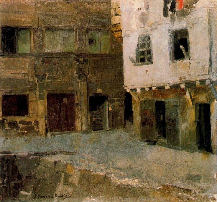 La Casa de Victor Hugo en Pasajes. Óleo sobre lienzo. 38 x 40.5 cm. Fundación Museo Sorolla. Madrid. Obra de Joaquín Sorolla