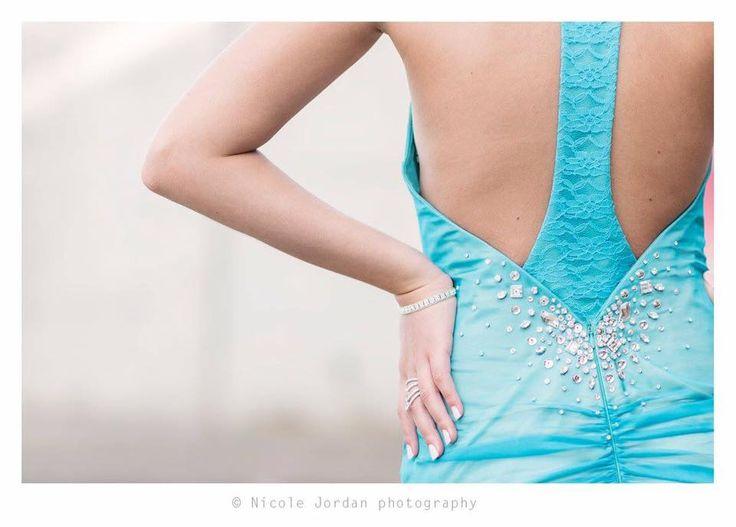 Halterneck Prom dress with lace insert at back finished with crystal embellishment #IngeCoetzerDesignerStudio