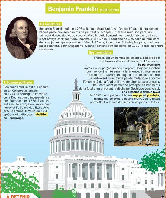 Benjamin Franklin - Mon Quotidien, le seul journal d'actualité pour les enfants de 10-14 ans