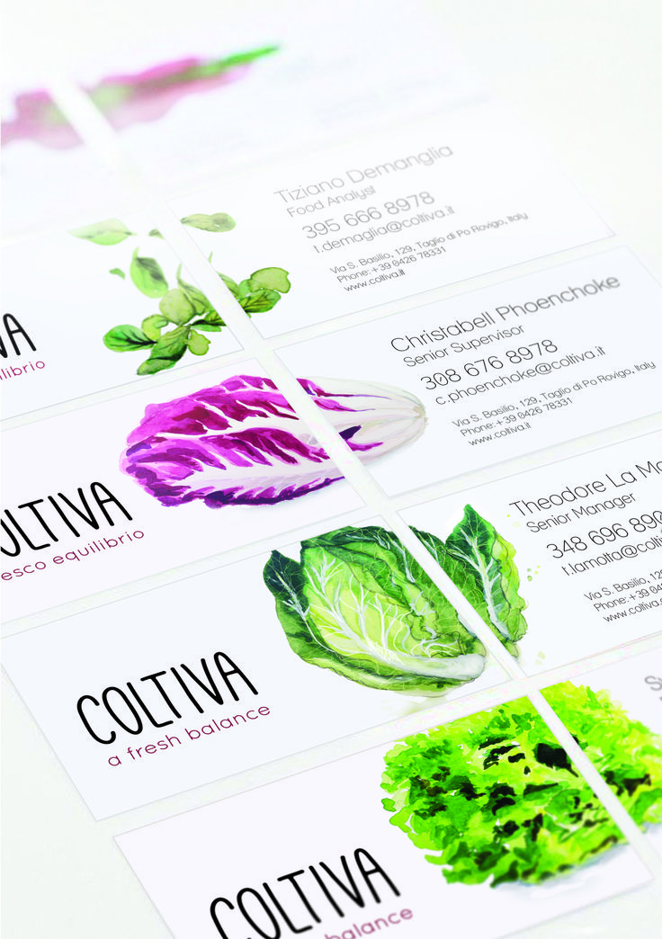 Coltiva Business Card by Christabell McDonald