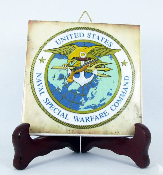 NAVSOC Logo Ceramic Tile Emblem Collectible Us by TerryTiles2014