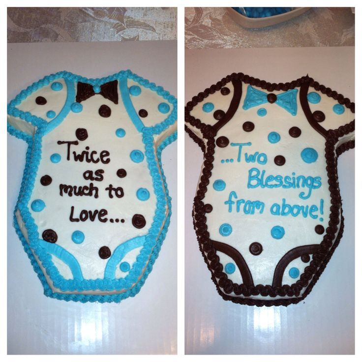 Twin baby boy shower cakes personal pinterest successes for Baby shower decoration ideas for twin boys