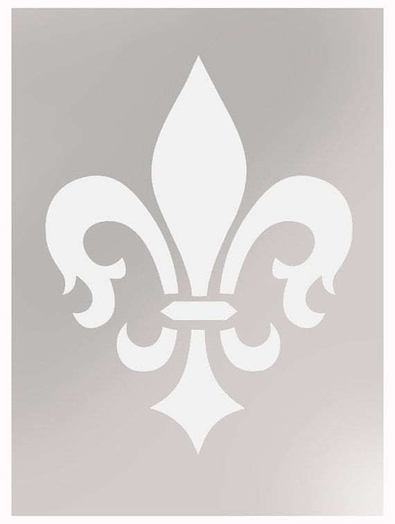 Simple Spray Paint Stencils Part - 49: Fleur De Lis Wallpaper Stencil Painting Stencil By IdealStencils