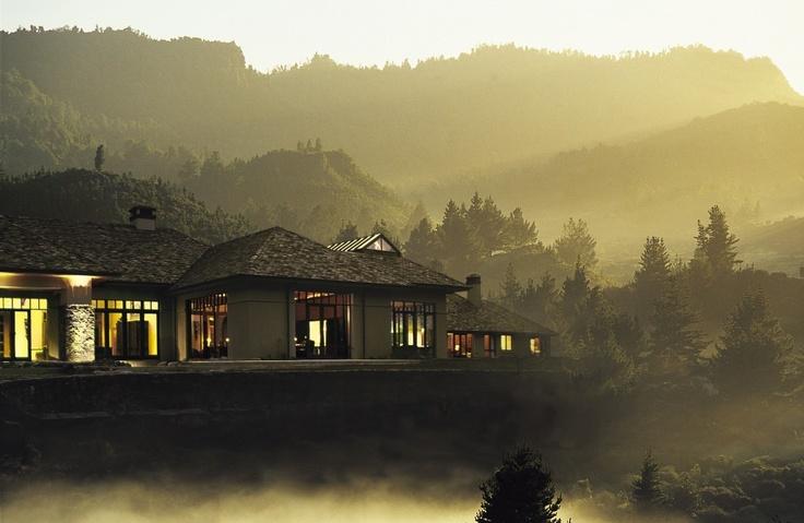 Twilight view of #Treetops Lodge & Estate #Rotorua #NewZealand