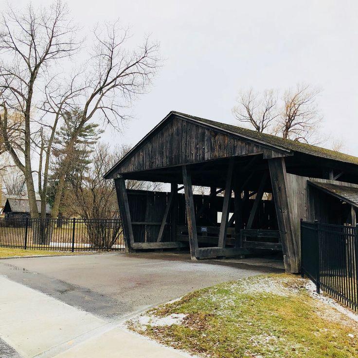 Entrance Shelburne Museum Covered Bridge. Shelburne, Vermont. Paul Chandler February 2018.