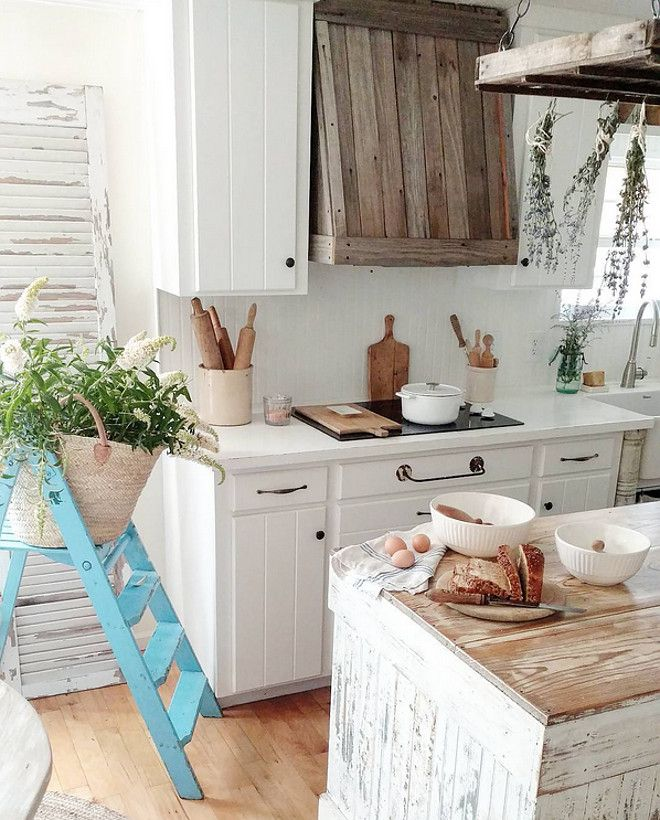 The Cabinets And Beadboard Backsplash Are Painted In Valspar Kitchen Enamel  White Bistro Paint.
