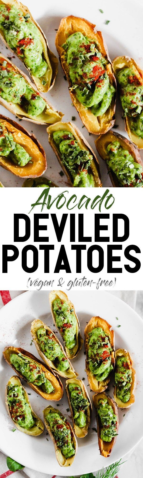 Your game day appetizer tray is not complete without these Avocado Deviled Potatoes & Creamy Avocado Pesto Pinwheels—easy plant-based finger foods for kids and adults alike! #NotJustGuac #sponsor @MissionAvocados @TaylorFarms