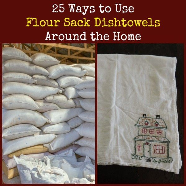 Repurposed flour sacks have been household multitaskers since the Great Depression. Flour sack dish towels are especially useful. Here are 25 everyday uses.  25 Ways to Use Flour Sack Dishtowels Around the Home   Backdoor Survival