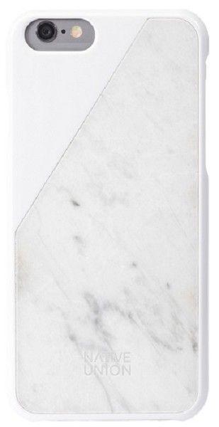 iPhone 6(S) case waarin echt marmer wordt gecombineerd met wit: de Clic Marble van Native Union.