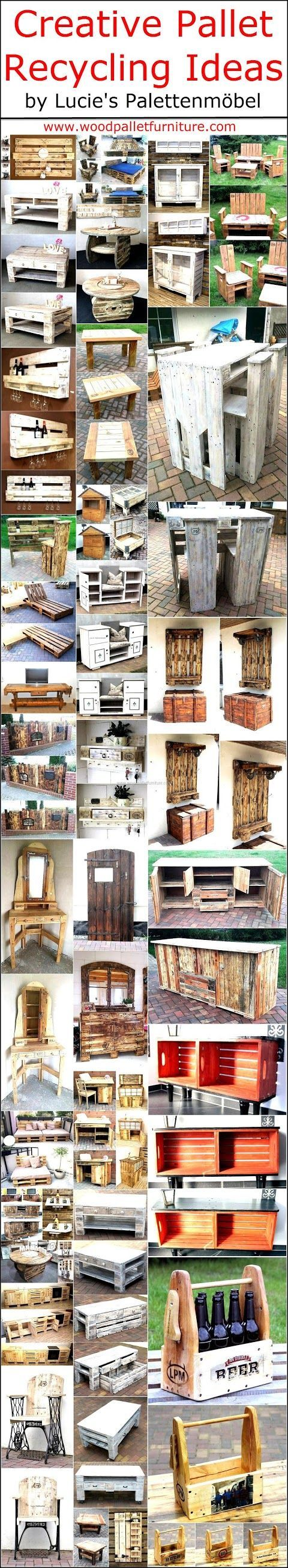Creative Pallet Recycling Ideas by Lucie's Palettenmöbel