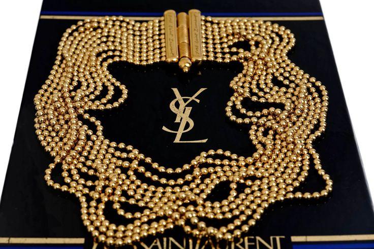 Jahrgang YVES SAINT LAURENT Multi Layer Kette Halskette von VintagEnMode auf Etsy https://www.etsy.com/de/listing/234294373/jahrgang-yves-saint-laurent-multi-layer