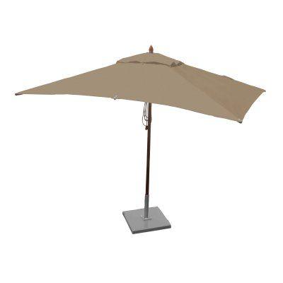 Greencorner 10 x 6.5 ft. African Mahogany Rectangular Patio Umbrella Beige - RC1065QS2038, Durable