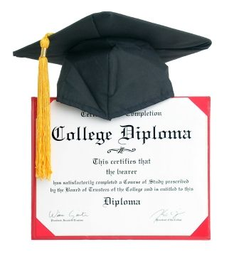 Image result for image of college diploma