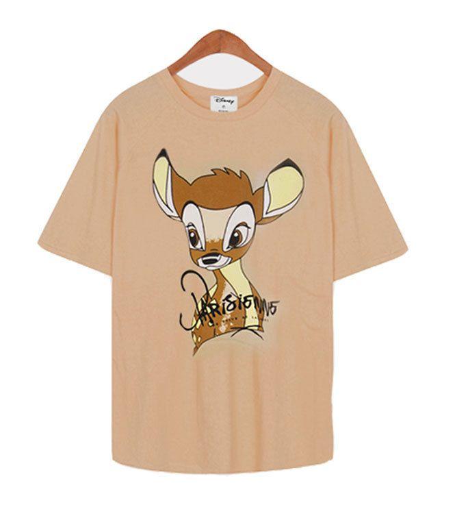 New Women Disney Bambie Dalmatian Character Graphic Cotton Cute T-shirt_4Colors #MIRINE