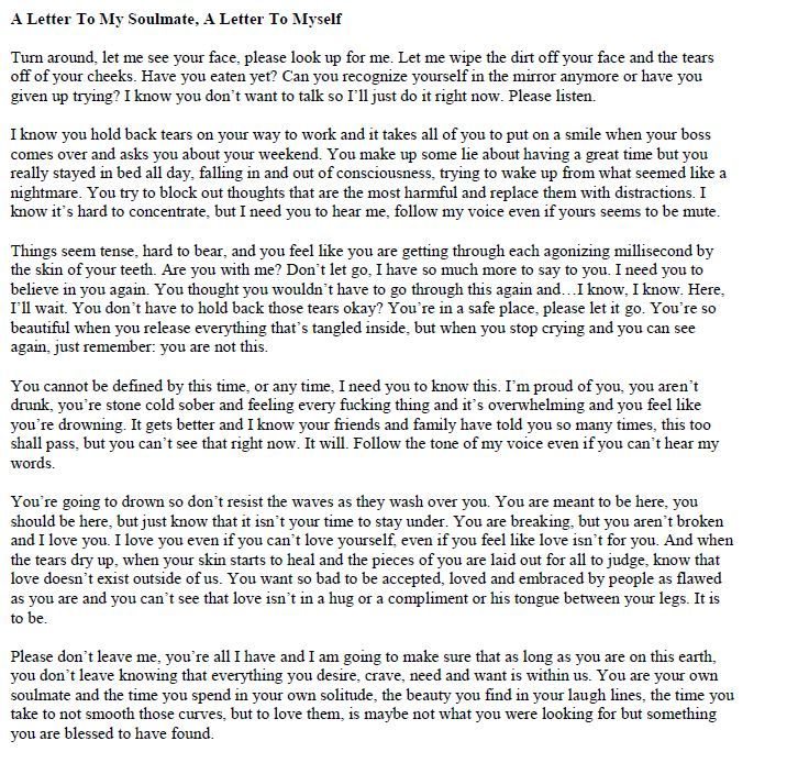 A Letter to My Soulmate 3
