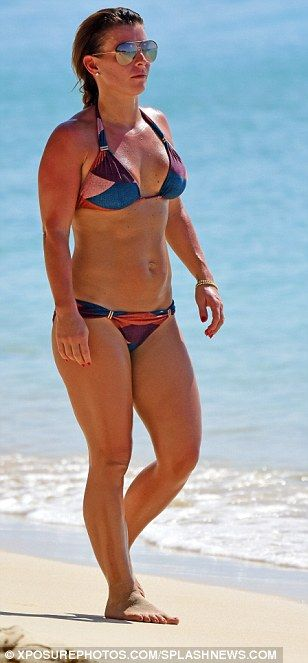 Coleen Rooney wears a skimpy bikini in Barbados