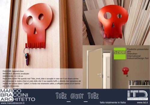PortaChiavi di Design in alluminio anodizzato rosso in Casa, arredamento e bricolage, Arredamento, Altro arredamento   eBay